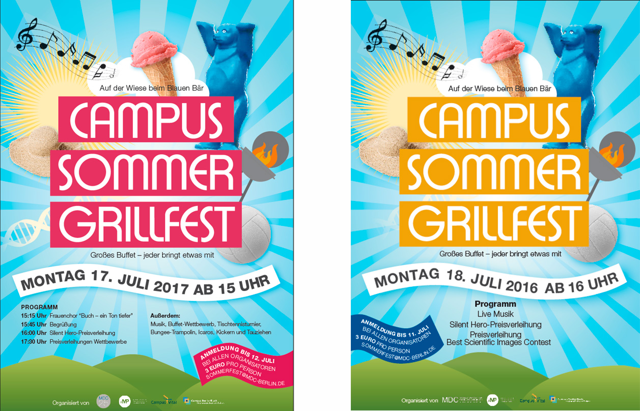 Poster für das jährliche Campus Grillfest / Poster for the yearly Campus BBQ